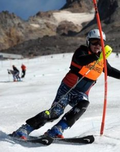 Mark Bathum skiing