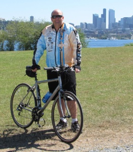 Josh Dand and his bike