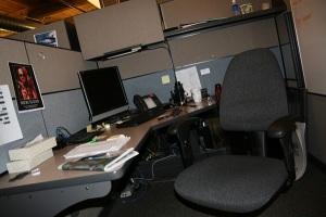 Tyler Poe's desk